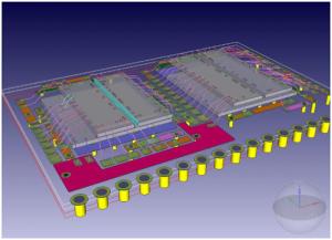 ワイヤボンドで積層されるICを用いたRFモジュール