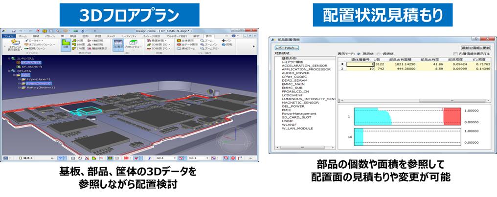 3Dフロアプラン 配置状況見積もり
