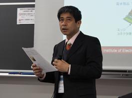 部品内蔵技術に関するセッションでの講演と、カーエレクトロニクス実装セッションでの座長を務めた 図研 EDA事業部 長谷川 清久
