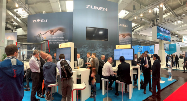 Zukenブースのメイン展示:Komax Zeta 全自動ワイヤハーネス加工装置