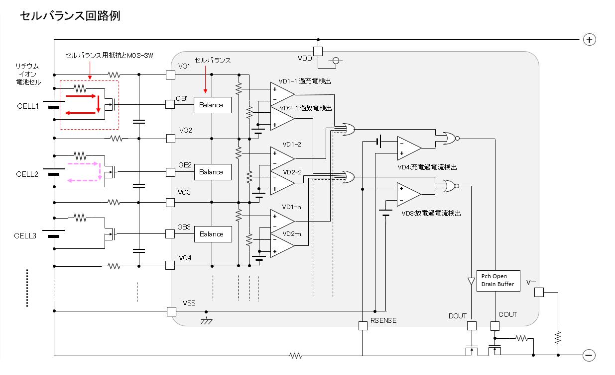 セルバランス回路例