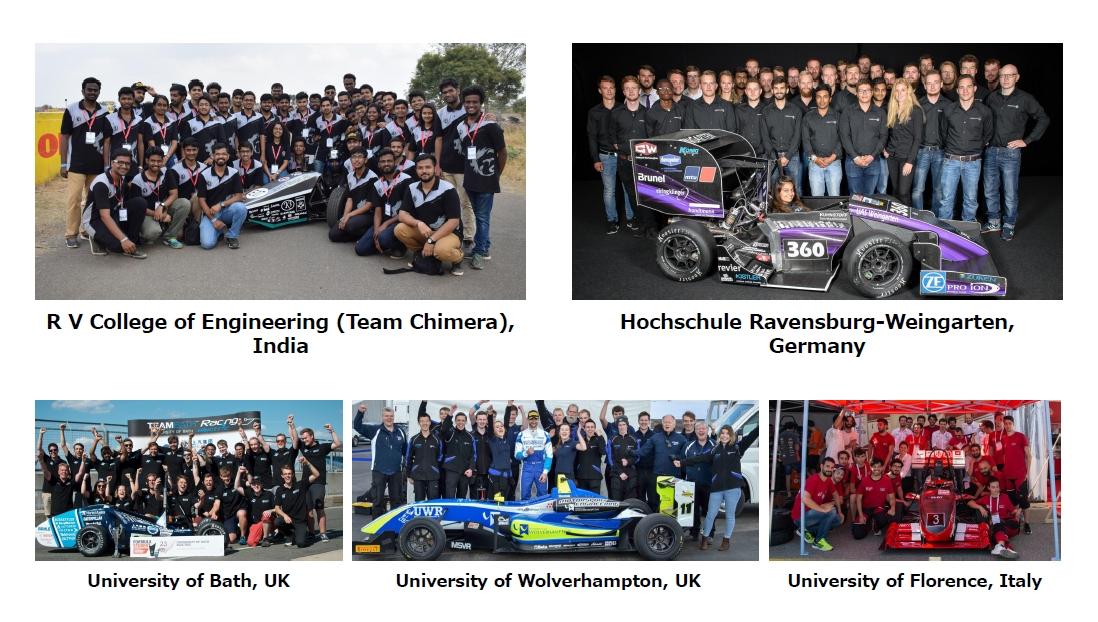 図研が応援してきた各国の学生チーム