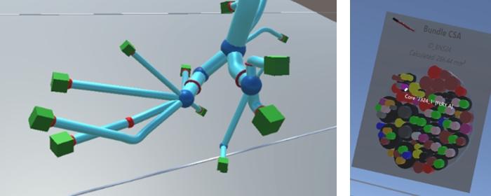 経路(水色の管)とコネクタ(緑色の箱)経路内の全ワイヤとケーブルの断面イメージp004