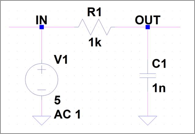 RCローパスフィルタ回路