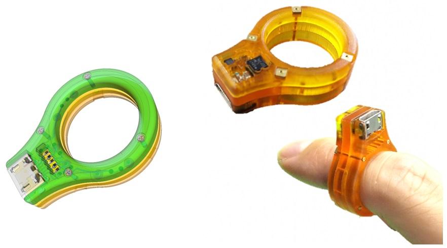 FPM-Trinity向け設計データと、製造した立体的な指輪型センサ