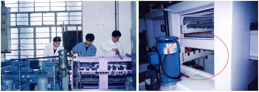 中国ローカル基板メーカでの設備メンテナンスの様子