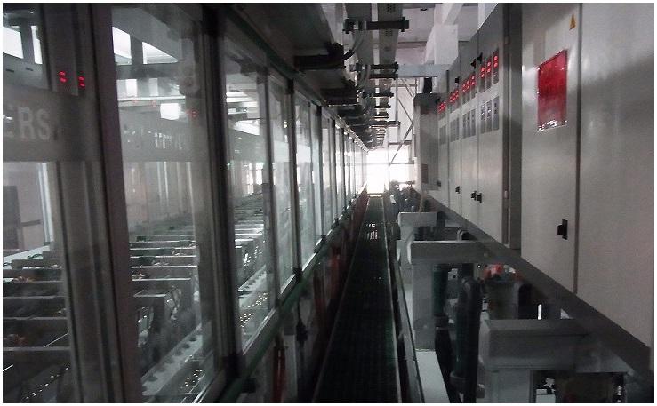 中国での量産パネルめっきラインの事例