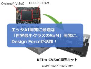 エッジAI開発に最適な「世界最小クラスのSoM」開発に、<br />Design Forceが活躍!