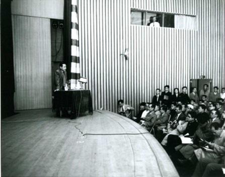 東海道新幹線への始動となった、ヤマハホールでの講演会